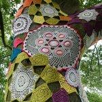Crochet covered tree