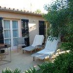 Poolside room terrace