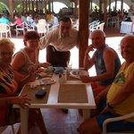 Strandbereich Mittagessen