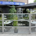 Outside terrace of Sirtaki in Uden