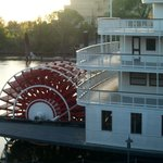 A real paddle steamer