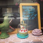 Vitrine du Cup's coffee shop