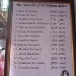 Le liste des Cheiks de la famille Al-Nahyan