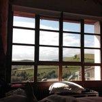 Espectacular vista desde la habitación:montaña