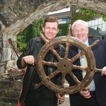 Minister of State for Tourism and Sport Michael Ring TD and show performer James Kilbane
