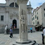Orlando's Column in Old Town Dubrovnik at the end of Placa Stradun.