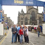 entrace to Royal Mile during Fringe Fest