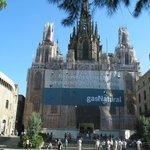 La cathédrale pendant les travaux de restauration