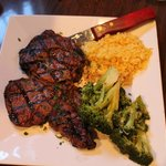 Rib Eye Steak, Broccoli, and Rice