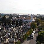 Vista dos hoteis frente ao cemitério da recoleta
