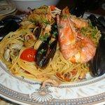 Обалденная паста с морепродуктами