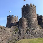 Conwy castle not far from great orme