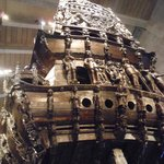 Stern section of the warship Vasa, which sank in 1628.