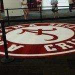 Carpet in game day locker room