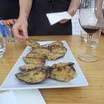Delicious stuffed mussels by Team B