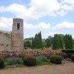 LE jardin et la ville vue du château