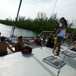Everyone chilling, just started heading to Stingray City.