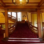 The Grand Staircase at the Dornoch Hotel