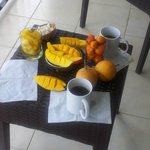 Fresh fruits every morning
