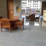 pool seating area