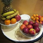 fresh fruit selection for breakfast