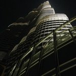 View of the Burj Khalifa from the pool on 3rd floor.
