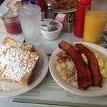 French Toast Explosion! Best bacon ever too!