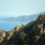 calanche - scorcio  panoramico del mare