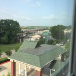The spectacular view from the third floor - Hooters, gas station and the highway.You can hear th