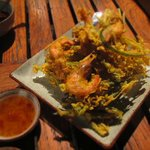 "Deep-fried ""Buea"" with shrimps"