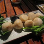 Phuket's famous fish balls with spicy dip