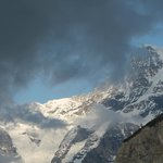 Clouds rolling past Eiger and Monch