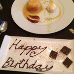 Soufflé dessert and my complimentary dessert