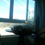 Vista do quarto e pequeno-almoço