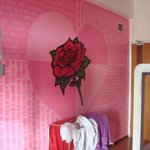 Wall painting in the room