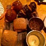 The Bread Board - Biscuit (brioche), Kalamata Olive Bread and Pretzel