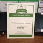This is the Trip Advisor Award- I posted the Lyft photo instead; speaking of Lyft- check it out-
