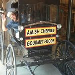 Amish buggy outside the gift shop