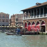 Gondola station on the Grand Canal