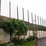 Muro con le reti divisorie