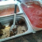Disgusting breakfast buffet.