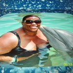 Dolphin Kiss on the Cheek