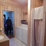 Bathroom (stall shower with laundry) in cabin #3