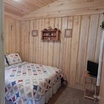 Bedroom #1 in Cabin #3 (double bed) isn't as small as it looks.