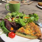 Quiche, Salad & Java @Julie's!!