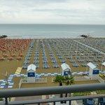 Panorama della spiaggia dalla camera