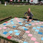Giant Scrabble in the yard
