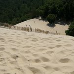 La scala per la cima della duna