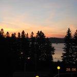 Vue magnifique au coucher de soleil.