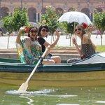 Rowing a boat at plaza España!